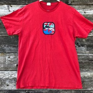QuikSilver Mens Red Slim Fit Short Sleeve T Shirt